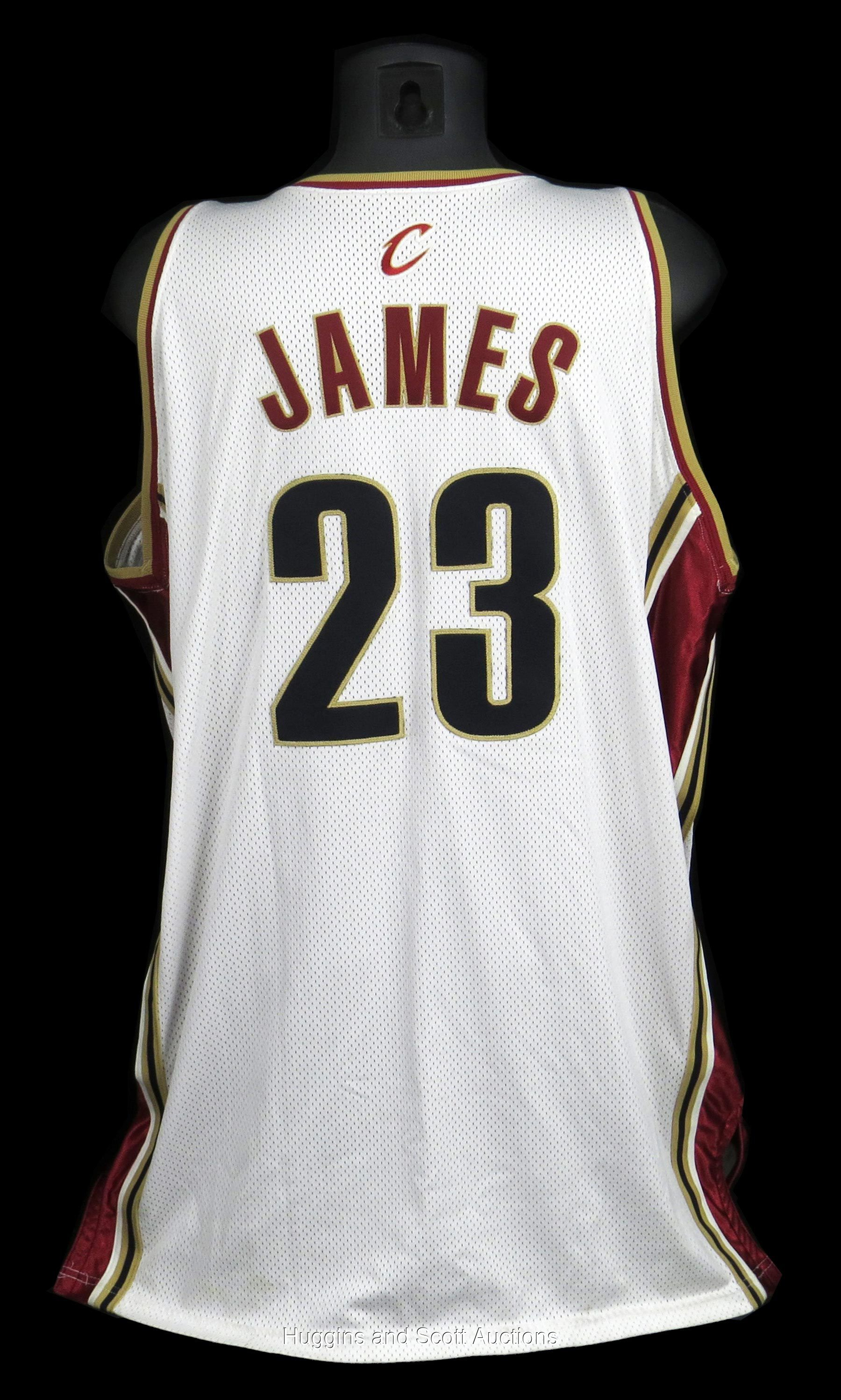 release date 71e13 795ac 2003-04 LeBron James Rookie Year Game-Worn Cleveland ...