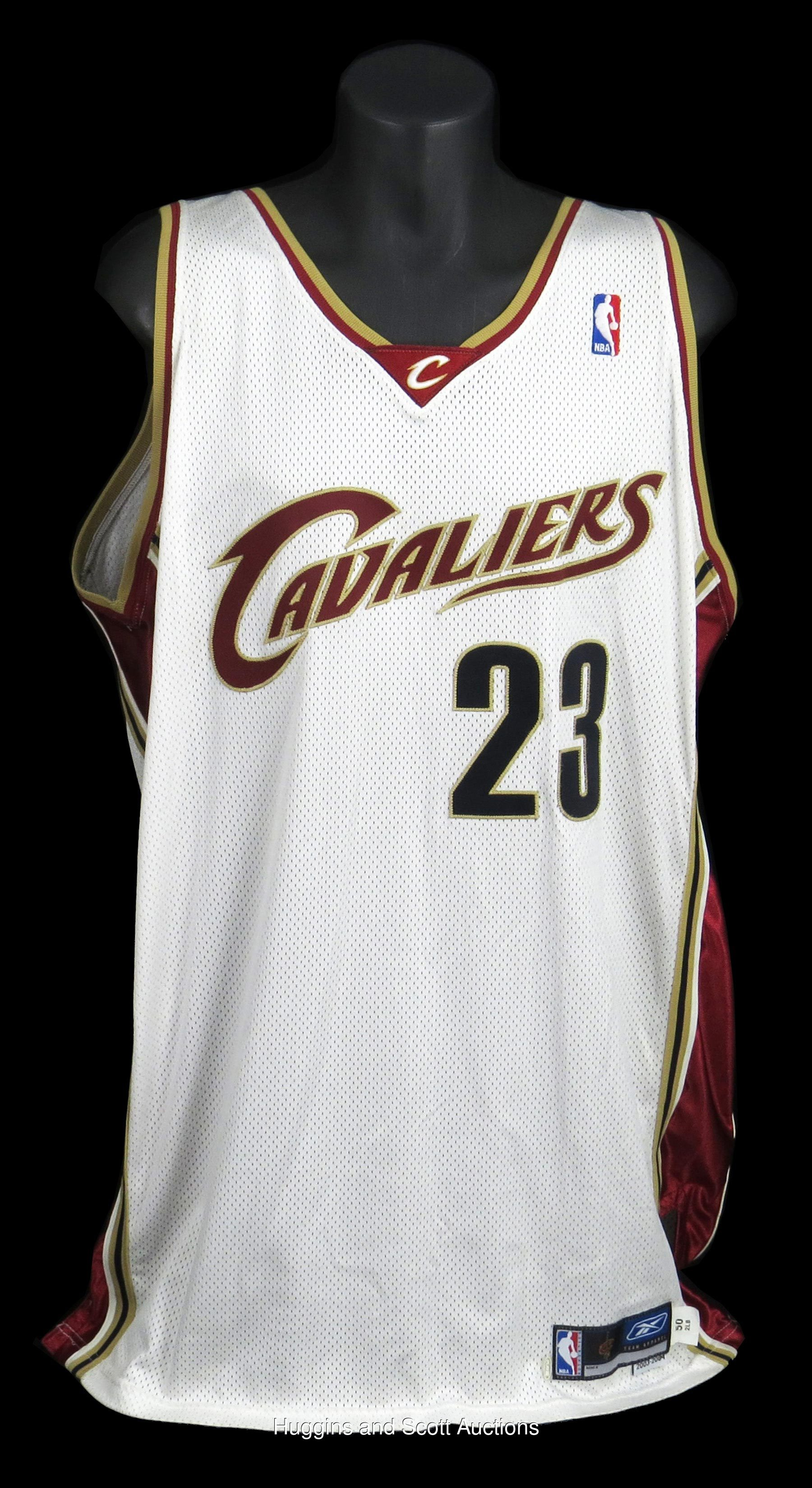 6af3224a1ea8 2003-04 LeBron James Rookie Year Game-Worn Cleveland Cavaliers Home ...